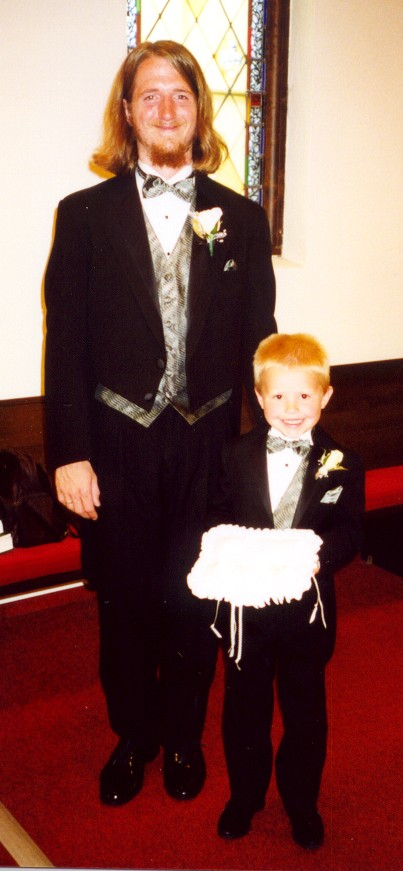 John and Joel before the wedding.